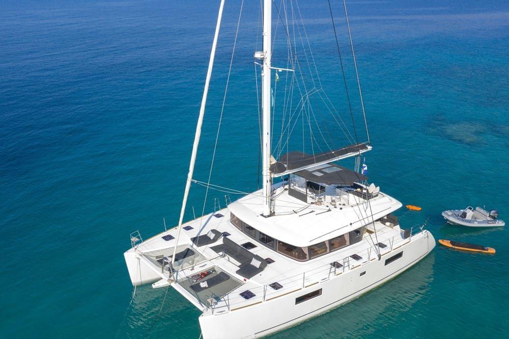 Crewed-luxury-catamarans-Greece-Airview